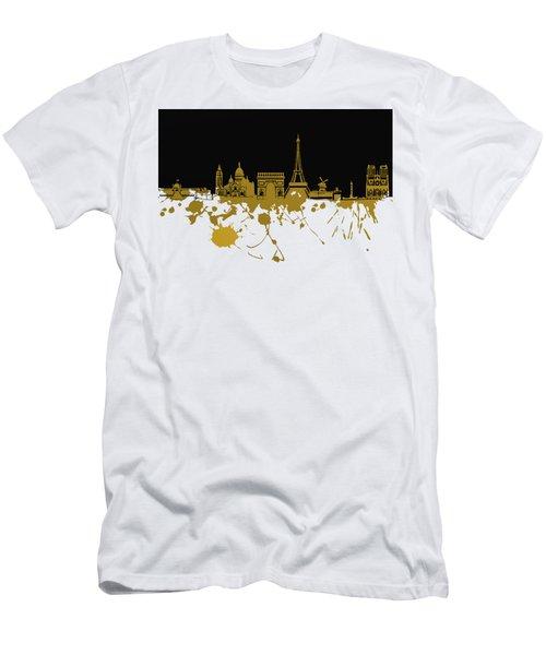 Paris Skyline  Men's T-Shirt (Athletic Fit)