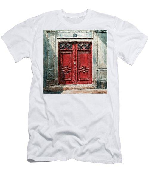 Parisian Door No.9 Men's T-Shirt (Athletic Fit)