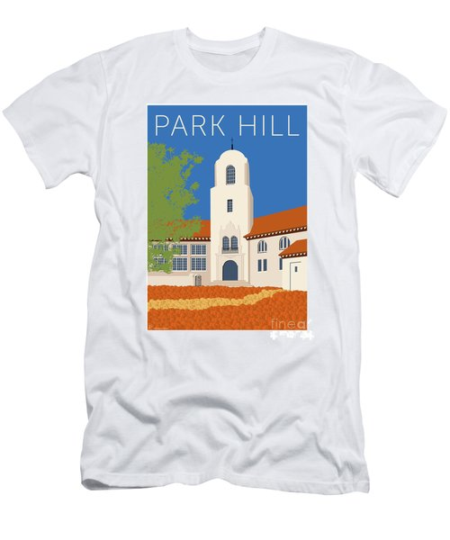 Men's T-Shirt (Athletic Fit) featuring the digital art Park Hill Blue by Sam Brennan