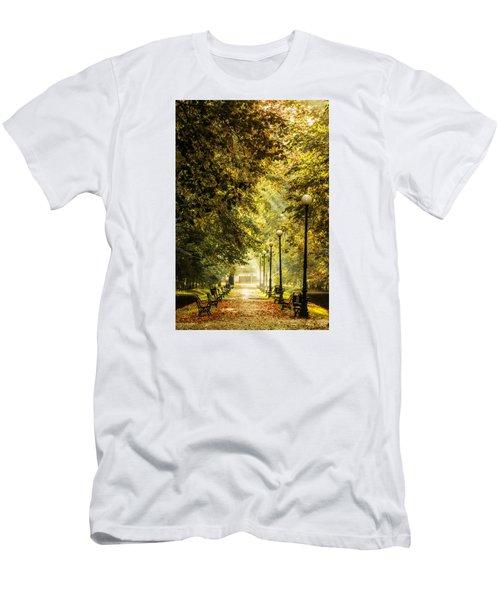 Men's T-Shirt (Slim Fit) featuring the photograph Park Lane by Jaroslaw Grudzinski