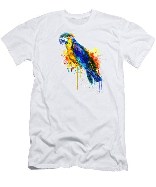 Parrot Watercolor  Men's T-Shirt (Athletic Fit)