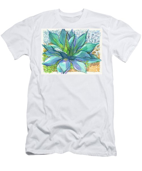 Men's T-Shirt (Athletic Fit) featuring the painting Parrys Agave by Judith Kunzle
