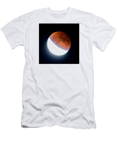 Partial Super Moon Lunar Eclipse Men's T-Shirt (Slim Fit) by Todd Kreuter