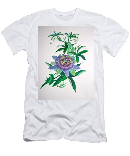 Passion Flower Men's T-Shirt (Slim Fit) by Tracey Harrington-Simpson