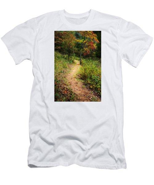 Path In The Prairie Men's T-Shirt (Slim Fit) by Diana Boyd