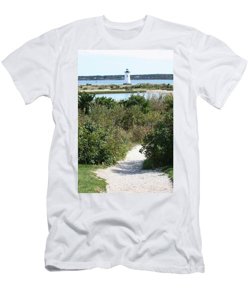 Path To Edgartown Lighthouse Men's T-Shirt (Athletic Fit)