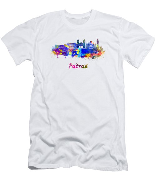 Patras Skyline In Watercolor Men's T-Shirt (Athletic Fit)