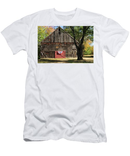 Patriotic Barn Men's T-Shirt (Slim Fit) by Nancy De Flon