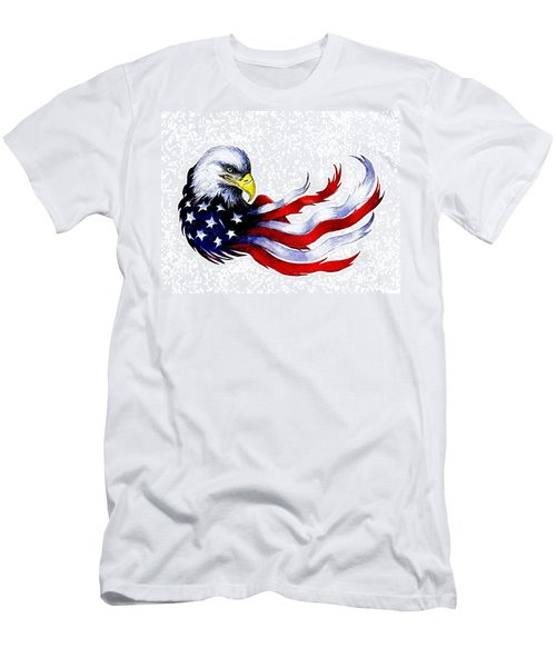 Patriotic Eagle Signed Men's T-Shirt (Athletic Fit)