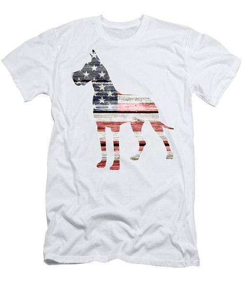 Patriotic Great Dane Men's T-Shirt (Athletic Fit)
