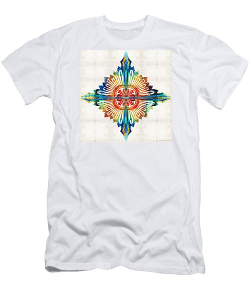 Pattern Art - Color Fusion Design 1 By Sharon Cummings Men's T-Shirt (Athletic Fit)