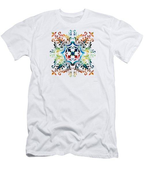 Pattern Art - Color Fusion Design 7 By Sharon Cummings Men's T-Shirt (Athletic Fit)