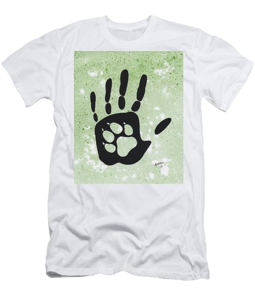 Paw And Hand Men's T-Shirt (Athletic Fit)