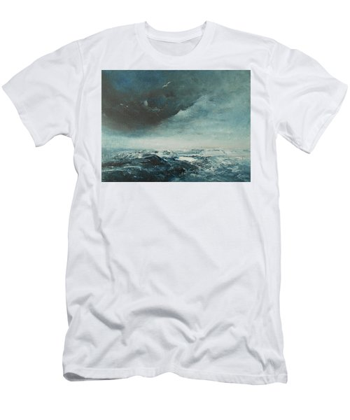 Peace In The Midst Of The Storm Men's T-Shirt (Slim Fit) by Jane See
