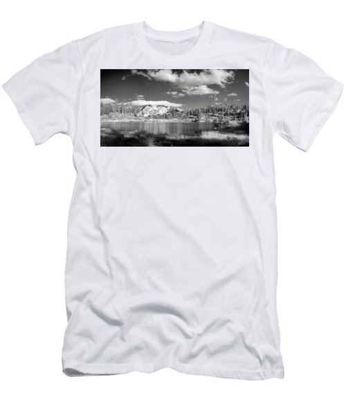 Men's T-Shirt (Slim Fit) featuring the photograph Peaceful Lake by Jon Glaser