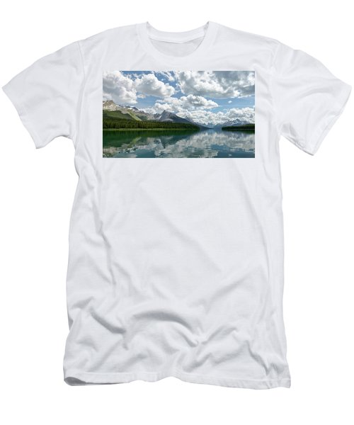 Peaceful Maligne Lake Men's T-Shirt (Slim Fit) by Sebastien Coursol
