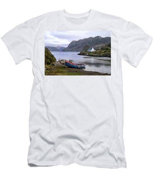 Peaceful Plockton Men's T-Shirt (Slim Fit) by Jacqi Elmslie