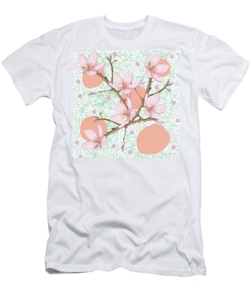 Peach Blossom Pattern Men's T-Shirt (Athletic Fit)