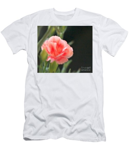 Men's T-Shirt (Slim Fit) featuring the photograph Peach Dream by Cathy Dee Janes