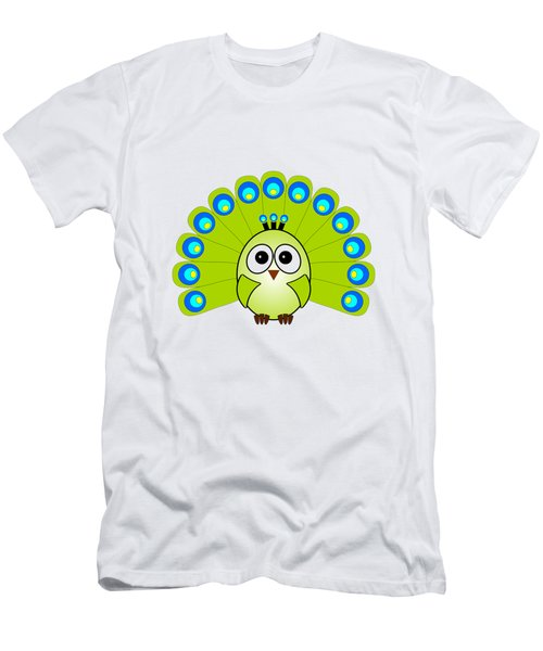 Peacock  - Birds - Art For Kids Men's T-Shirt (Slim Fit) by Anastasiya Malakhova