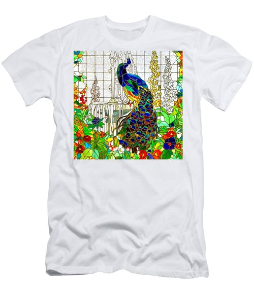 Peacock Stained Glass Men's T-Shirt (Athletic Fit)