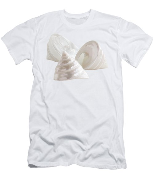 Pearl Troca Shells On White Men's T-Shirt (Athletic Fit)