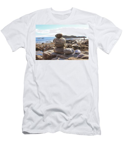 Peceful Zen Rocks Men's T-Shirt (Athletic Fit)