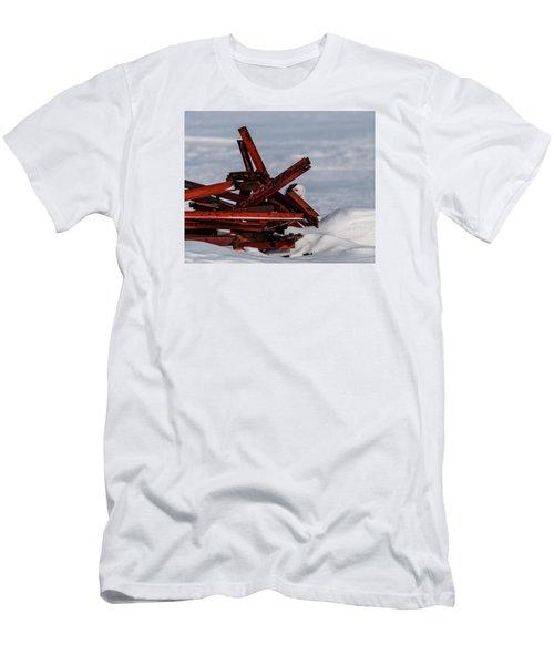 Peek-a-boo Men's T-Shirt (Slim Fit) by Dan Traun