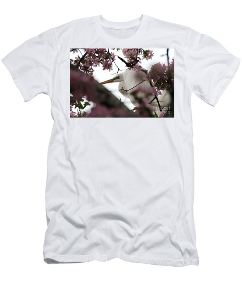 Peek A Boo Men's T-Shirt (Slim Fit) by Sandra Updyke
