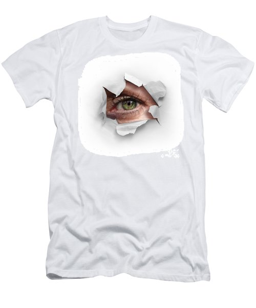 Peek Through A Hole Men's T-Shirt (Athletic Fit)