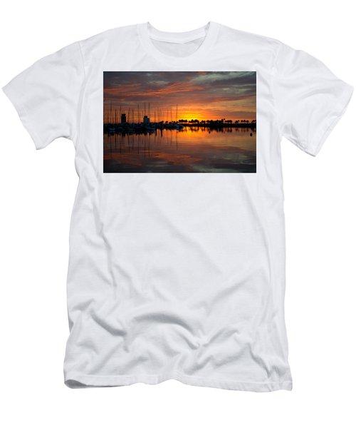 Peeking Sun Men's T-Shirt (Athletic Fit)