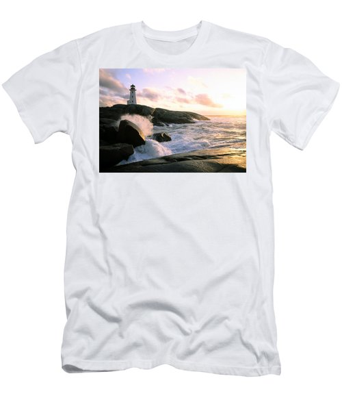 Peggy's Point Lighthouse, Canada, Nova Scotia, Peggy's Cove Men's T-Shirt (Athletic Fit)