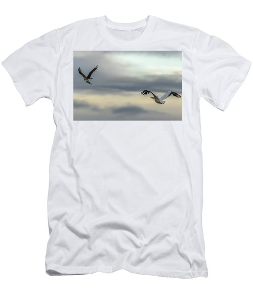 Pelican Chasing Osprey Men's T-Shirt (Athletic Fit)