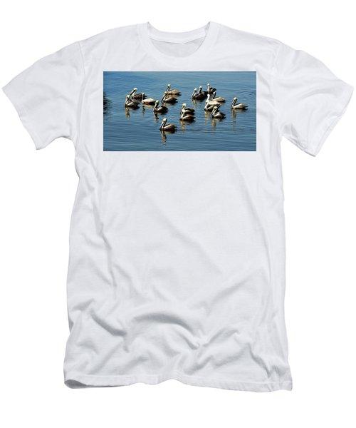 Pelicans Blue Men's T-Shirt (Athletic Fit)