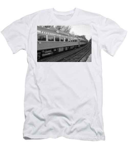 Pennsylvania Reading Seashore Lines Train Men's T-Shirt (Athletic Fit)