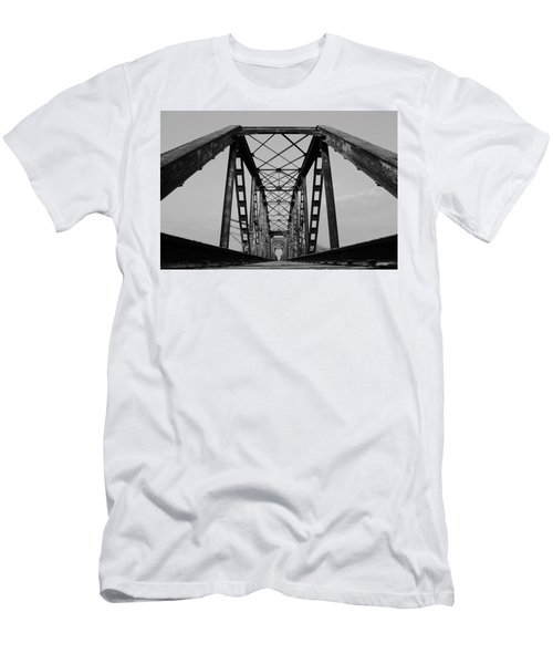 Pennsylvania Steel Co. Railroad Bridge Men's T-Shirt (Athletic Fit)