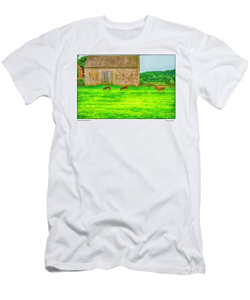 Pennsylvania's Oldest Barn Men's T-Shirt (Slim Fit) by R Thomas Berner