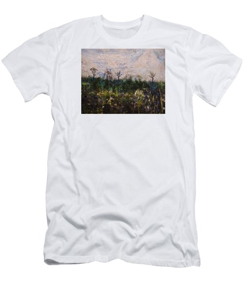 Men's T-Shirt (Slim Fit) featuring the painting Pentimento by Ron Richard Baviello