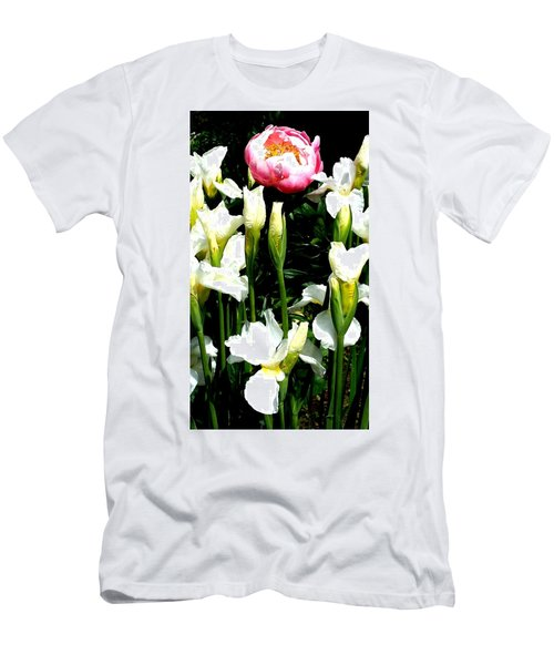 Peony And Iris Men's T-Shirt (Athletic Fit)