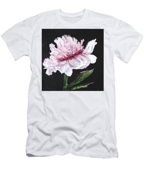 Peony Bloom Men's T-Shirt (Slim Fit) by Betty-Anne McDonald