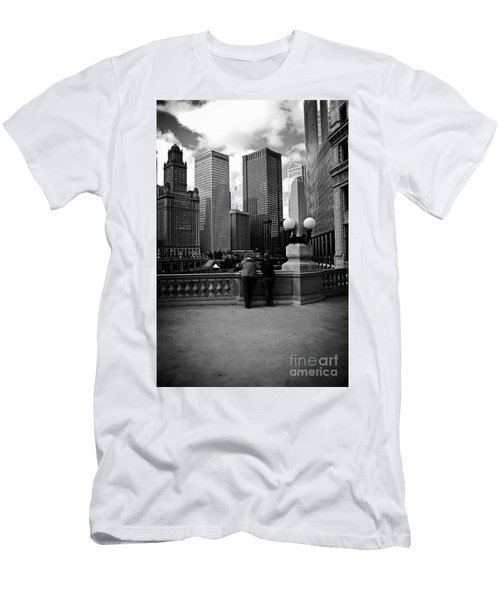 People And Skyscrapers Men's T-Shirt (Athletic Fit)