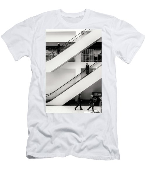 Men's T-Shirt (Athletic Fit) featuring the photograph People Divided by John Williams