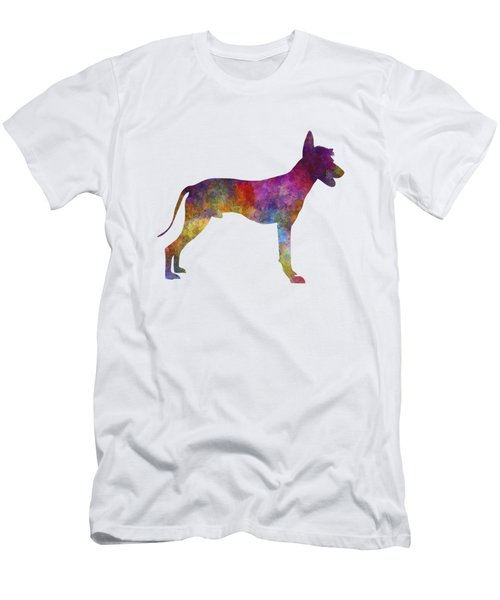 Peruvian Hairless Dog In Watercolor Men's T-Shirt (Athletic Fit)