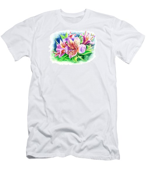 Peruvian Princess Lily Men's T-Shirt (Athletic Fit)