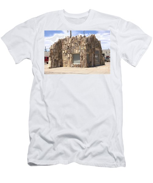 Petrified Wood Building Men's T-Shirt (Athletic Fit)
