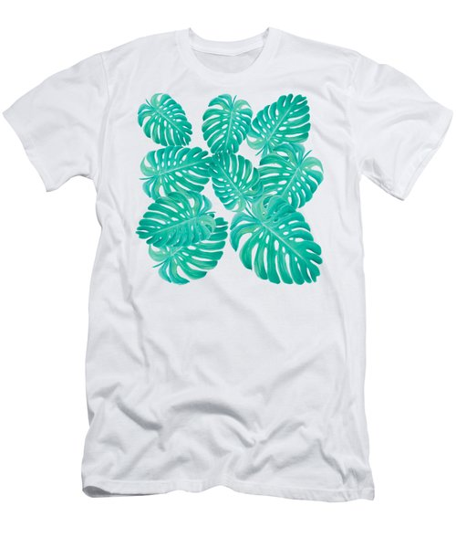 Philodendron Leaves Men's T-Shirt (Athletic Fit)