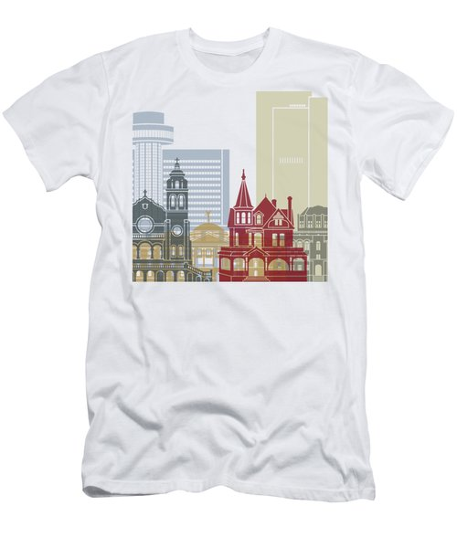 Phoenix Skyline Poster Men's T-Shirt (Slim Fit) by Pablo Romero