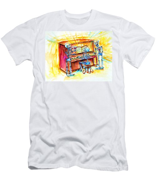 Men's T-Shirt (Slim Fit) featuring the painting Piano Man by Heather Calderon