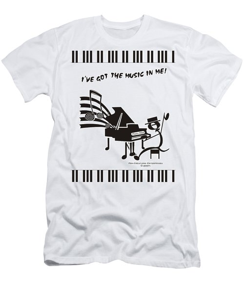 Piano Man Men's T-Shirt (Slim Fit) by Maria Watt