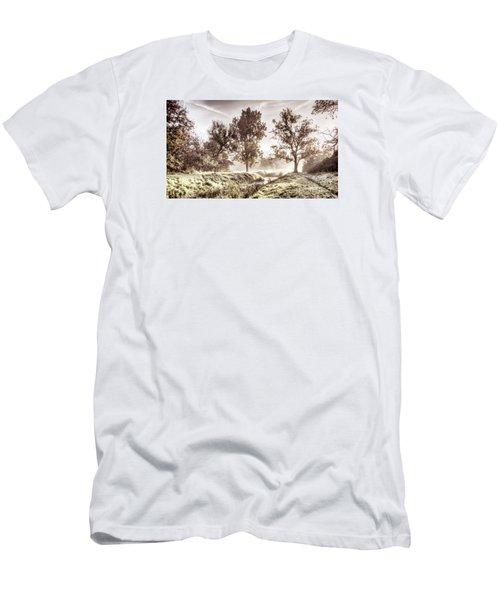 Pictorial Autumn Landscape Artistic Picture Men's T-Shirt (Slim Fit) by Odon Czintos